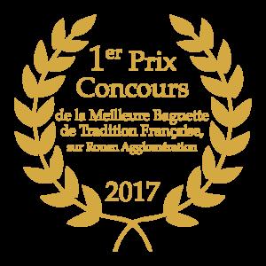 1er prix Concours de la Meilleure Baguette de Tradition Française, sur Rouen Agglomération 2017